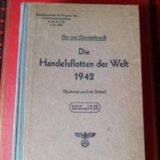 Libros antiguos: LIBRO FLOTA DE GUERRA ALEMANA SEGUNDA GUERRA MUNDIAL 1942. Lote 209710195