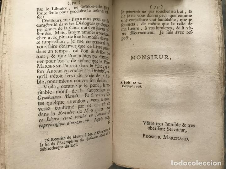Libros antiguos: Des Périers, Bonaventure, Cymbalum mundi, ou Dialogues satyriques,..1711. Prosper Marchand - Foto 11 - 209718608