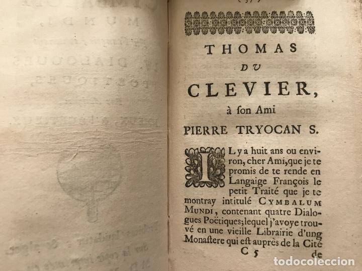 Libros antiguos: Des Périers, Bonaventure, Cymbalum mundi, ou Dialogues satyriques,..1711. Prosper Marchand - Foto 13 - 209718608