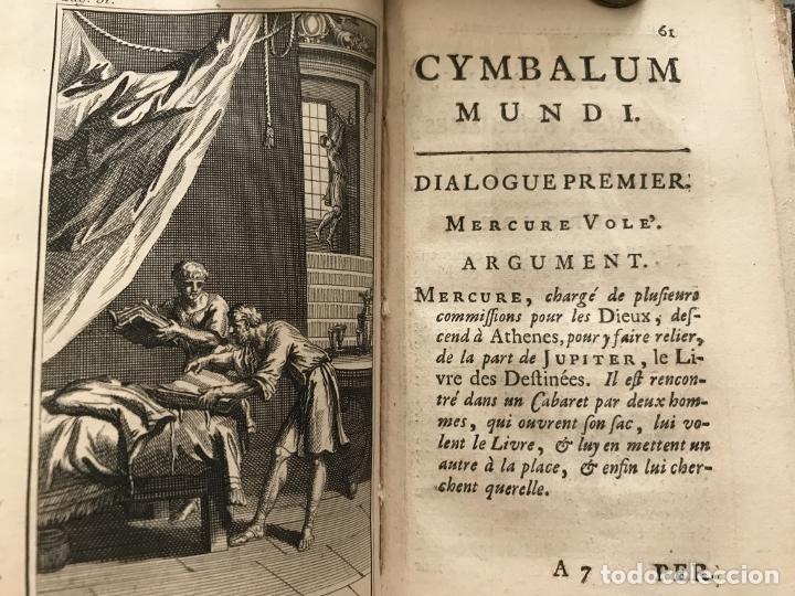 Libros antiguos: Des Périers, Bonaventure, Cymbalum mundi, ou Dialogues satyriques,..1711. Prosper Marchand - Foto 14 - 209718608