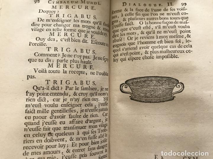 Libros antiguos: Des Périers, Bonaventure, Cymbalum mundi, ou Dialogues satyriques,..1711. Prosper Marchand - Foto 18 - 209718608