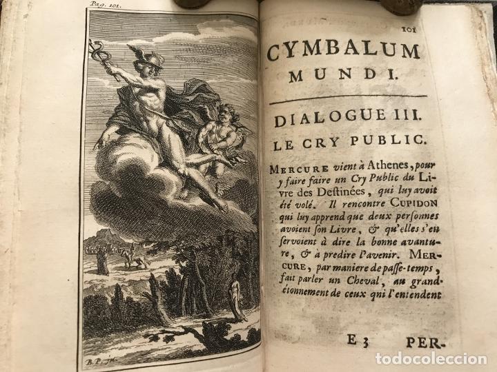 Libros antiguos: Des Périers, Bonaventure, Cymbalum mundi, ou Dialogues satyriques,..1711. Prosper Marchand - Foto 19 - 209718608