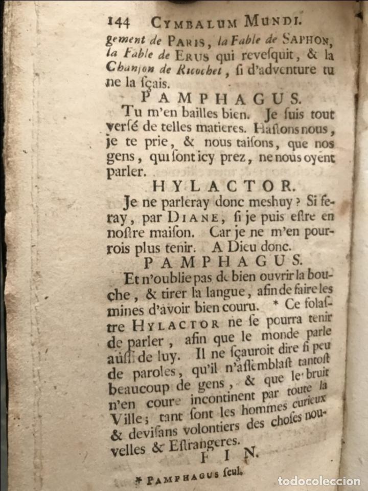 Libros antiguos: Des Périers, Bonaventure, Cymbalum mundi, ou Dialogues satyriques,..1711. Prosper Marchand - Foto 25 - 209718608