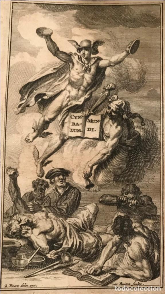 Libros antiguos: Des Périers, Bonaventure, Cymbalum mundi, ou Dialogues satyriques,..1711. Prosper Marchand - Foto 26 - 209718608