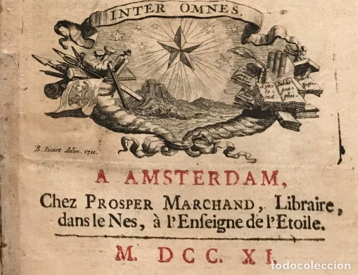Libros antiguos: Des Périers, Bonaventure, Cymbalum mundi, ou Dialogues satyriques,..1711. Prosper Marchand - Foto 27 - 209718608