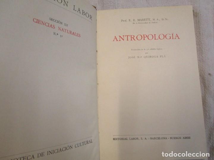Libros antiguos: ANTROPOLOGÍA - MERETT - COL LABOR Nº31 1931 EXCELENTE CORREO 2.40€ + INFO - Foto 2 - 209826720