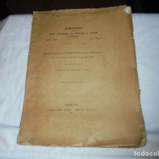 Libros antiguos: MEMORIAS DE LA REAL ACADEMIA DE CIENCIAS Y ARTES.INFLUENCIA DE LA ENSEÑANZA DE LA GEOGRAFIA.1911. Lote 209869937