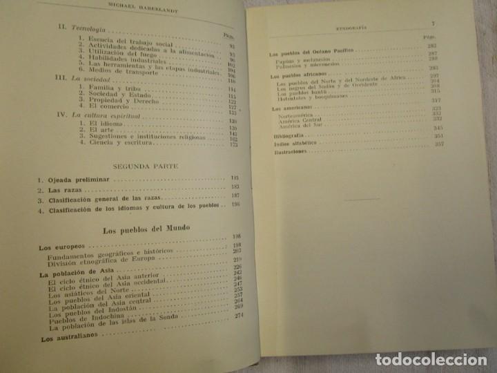 Libros antiguos: ETNOGRAFIA ESTUDIO DE LAS RAZAS - HABERLANDT - COL LABOR Nº23/24 1929 EXCELENTE + INFO - Foto 4 - 209878813