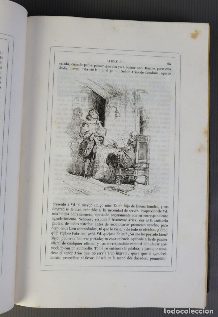 Libros antiguos: Historia de Gil Blas de Santillana-Le Sage-Imprenta Don Antonio Berges y compañía 1840 - Foto 10 - 209971305