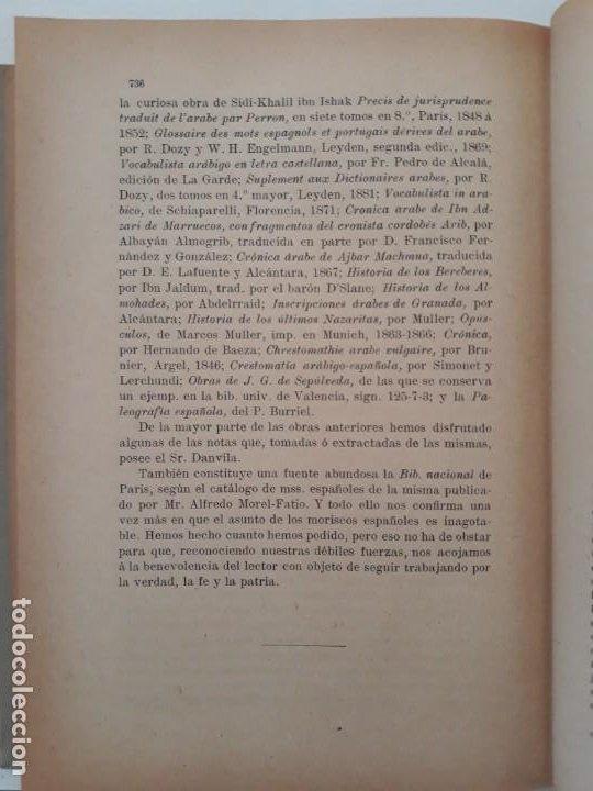 Libros antiguos: LOS MORISCOS ESPAÑOLES Y SU EXPULSIÓN. Estudio histórico-crítico. P. Boronat y Barrachina. 2 tomos. - Foto 4 - 209978503