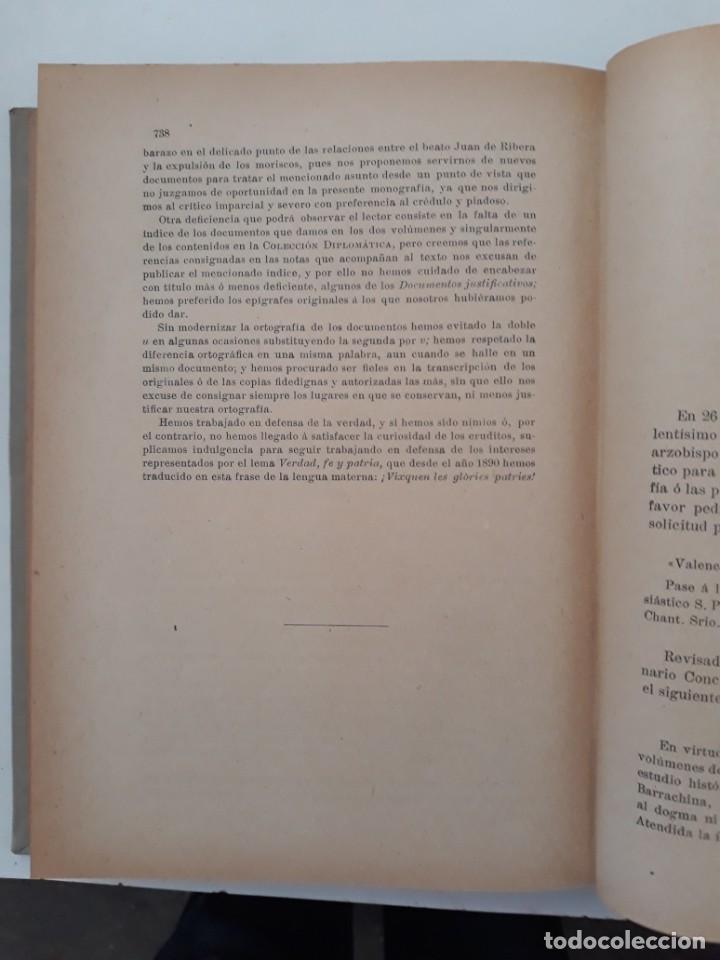 Libros antiguos: LOS MORISCOS ESPAÑOLES Y SU EXPULSIÓN. Estudio histórico-crítico. P. Boronat y Barrachina. 2 tomos. - Foto 5 - 209978503