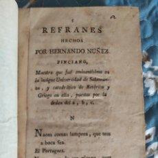 Libros antiguos: 1804. REFRANES O PROVERBIOS DE HERNÁN NUÑEZ. TOMO III.. Lote 209995720
