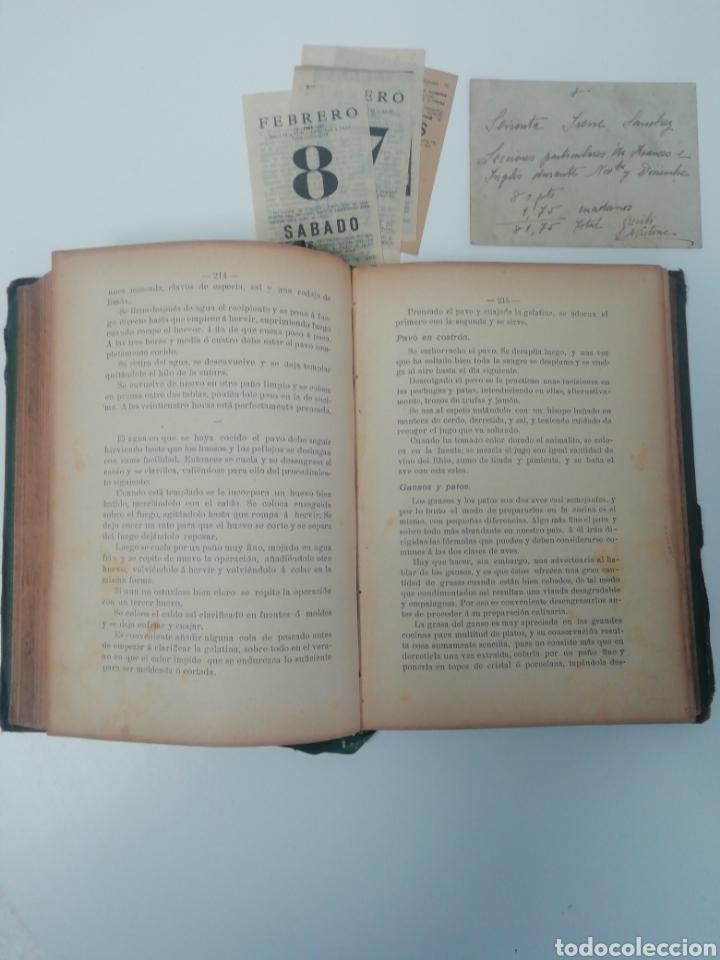 Libros antiguos: Antiguo libro de cocina, año 1910. - Foto 3 - 210162007