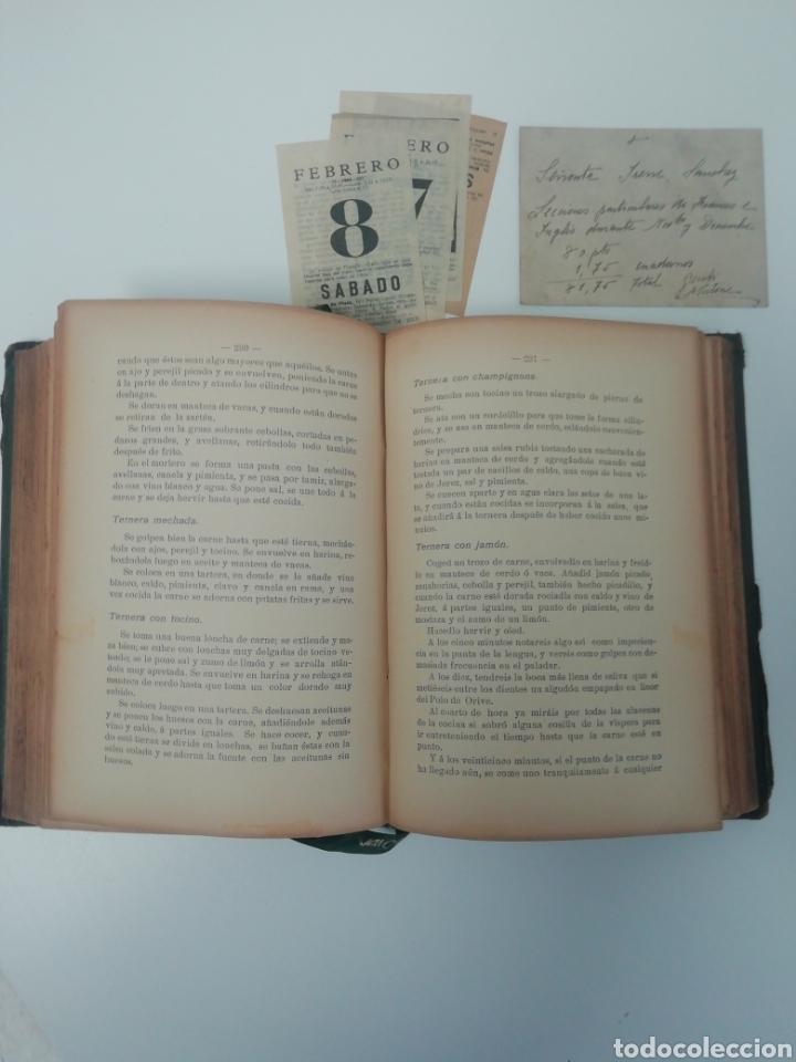Libros antiguos: Antiguo libro de cocina, año 1910. - Foto 4 - 210162007