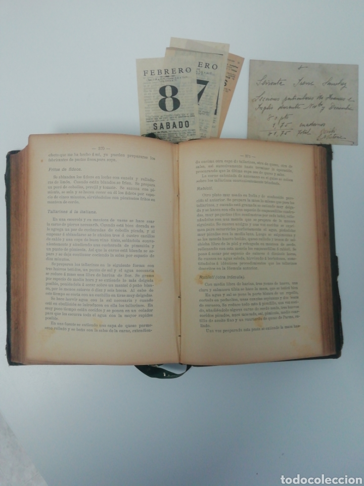 Libros antiguos: Antiguo libro de cocina, año 1910. - Foto 5 - 210162007