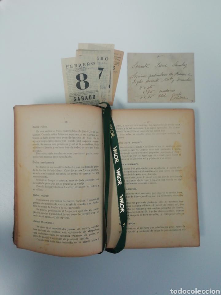 ANTIGUO LIBRO DE COCINA, AÑO 1910. (Libros Antiguos, Raros y Curiosos - Cocina y Gastronomía)