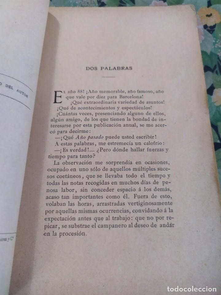Libros antiguos: 1889. El año pasado. Letras y Artes en Barcelona. J Yxart. - Foto 2 - 210239497