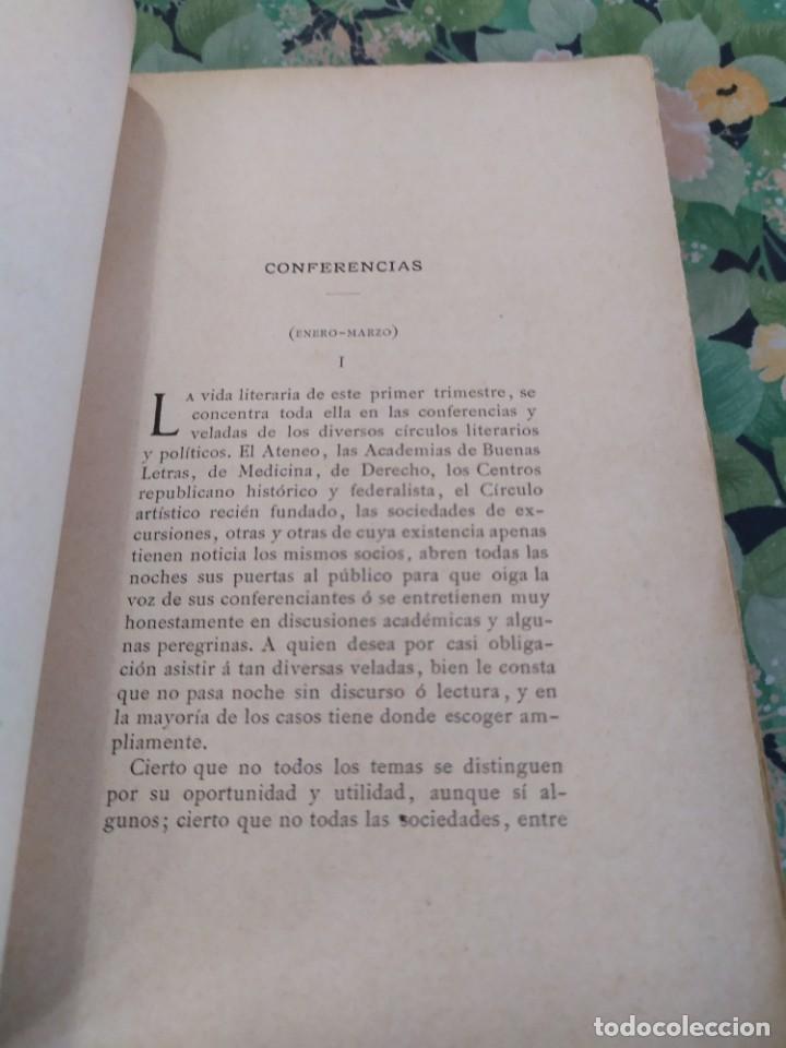 Libros antiguos: 1889. El año pasado. Letras y Artes en Barcelona. J Yxart. - Foto 3 - 210239497