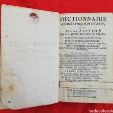 Libros antiguos: DICTIONNAIRE GEOGRAPHIQUE - 1770 - CHEZ LES LIBRAIRES ASSOCIÉS - ENC. PIEL - 816 PÁGINAS. Lote 210305810