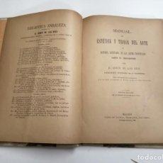 Libros antiguos: MANUAL DE ESTÉTICA Y TEORÍA DEL ARTE. H. GINER DE LOS RÍOS. 1895 MADRID. ED.: SÁENZ DE JUBERA.. Lote 210544665