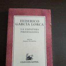 Libros antiguos: LA ZAPATERA PRODIGIOSA FEDERICO GARCIA LORCA. Lote 210570472