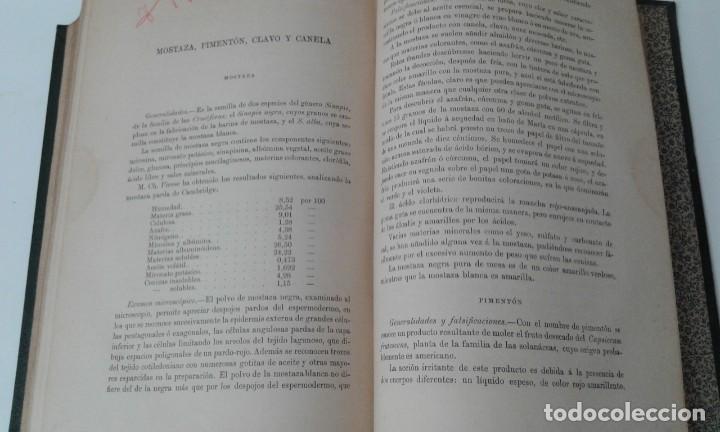Libros antiguos: ALIMENTOS Y BEBIDAS CHICOTE BEBIDAS ADULTERADAS 1897 MUY RARO - Foto 11 - 210613948