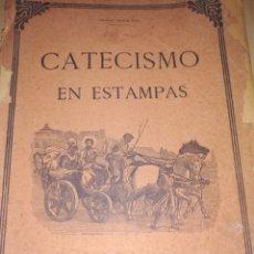 Libros antiguos: LIBRO ANTIGUO CATECISMO EN ESTAMPA CON SUS 70 GRABADOS.. COMPLETOS.. NO FALTA NINGUNO. Lote 210657691