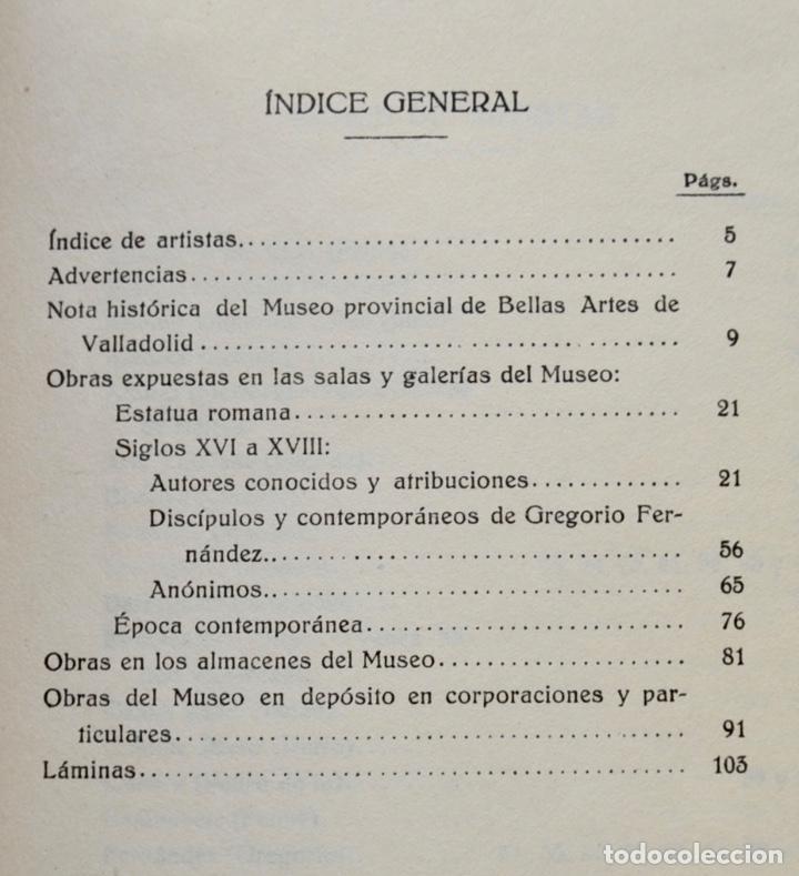 Libros antiguos: Museo Provincial de Bellas Artes de Valladolid. Catálogo de la Sección de Escultura. 1916 - Foto 3 - 210755324