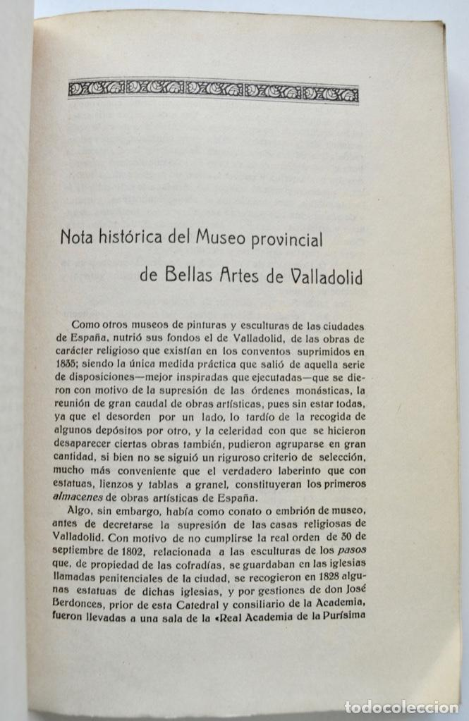 Libros antiguos: Museo Provincial de Bellas Artes de Valladolid. Catálogo de la Sección de Escultura. 1916 - Foto 4 - 210755324