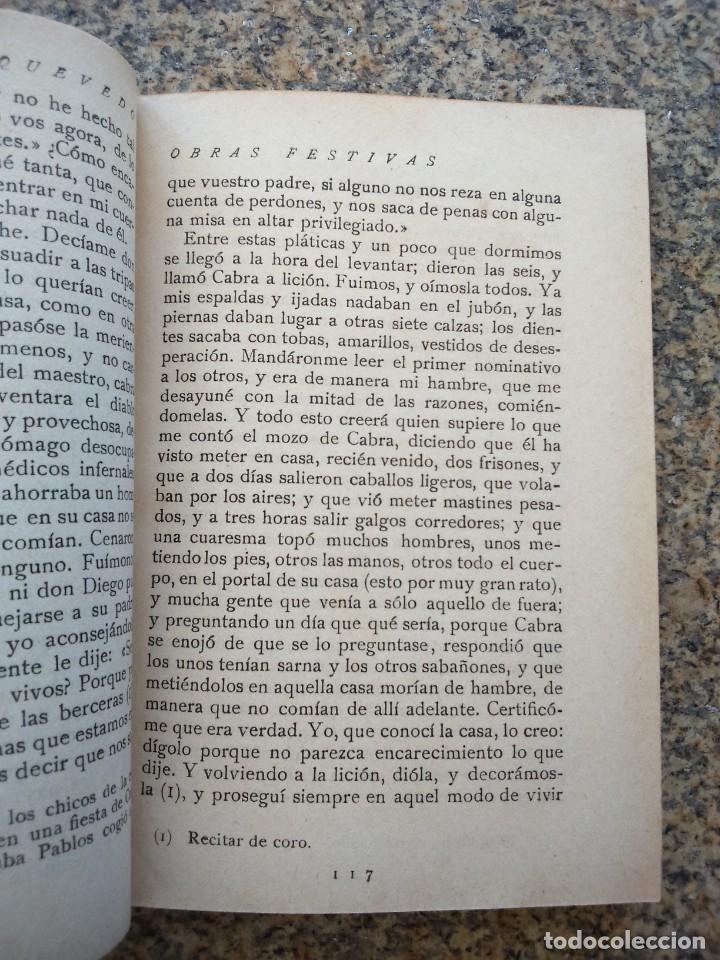 Libros antiguos: PAGINAS ESCOGIDAS - QUEVEDO -- SELECCION, PROLOGO DE ALFONSO REYES -- CALLEJA 1917 -- - Foto 3 - 210766757