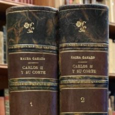Libros antiguos: CARLOS II Y SU CORTE. ENSAYO DE RECONSTRUCCIÓN BIOGRÁFICA. GABRIEL MAURA GAMAZO. Lote 210944220
