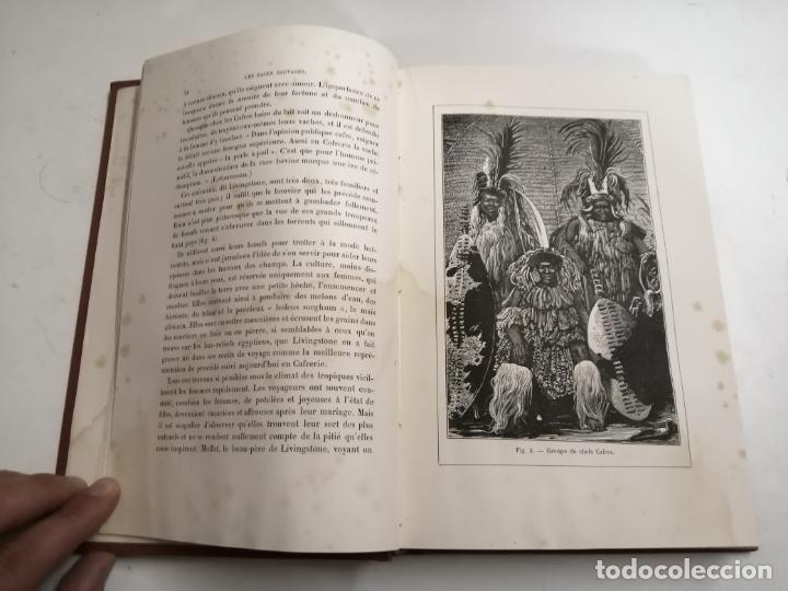 Libros antiguos: Les Races Sauvages. Alphonse Bertillon. 1882 París. Ed.: G. Masson. Bibliothèque dela Nature. - Foto 4 - 210947412