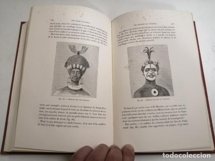 Libros antiguos: Les Races Sauvages. Alphonse Bertillon. 1882 París. Ed.: G. Masson. Bibliothèque dela Nature. - Foto 10 - 210947412