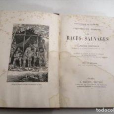 Libros antiguos: LES RACES SAUVAGES. ALPHONSE BERTILLON. 1882 PARÍS. ED.: G. MASSON. BIBLIOTHÈQUE DELA NATURE.. Lote 210947412