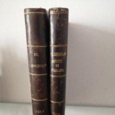 Libros antiguos: REVISTA DE FILOLOGÍA EL LENGUAJE 1912-1913 COMPLETA. Lote 210966269