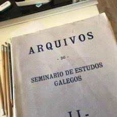 Libros antiguos: ARQUIVOS DO SEMINARIO DE ESTUDOS GALLEGOS II. Lote 211278375