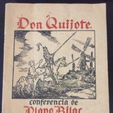 Libros antiguos: QUIJOTE. CONFERENCIA DE OLAVO BILAC, DEDICADO A CANSINOS ASSENS.. Lote 211385597