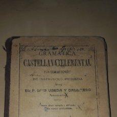 Libros antiguos: LIBRO DE GRAMATICA CASTELLANA ELEMENTAL-1908. Lote 211396237