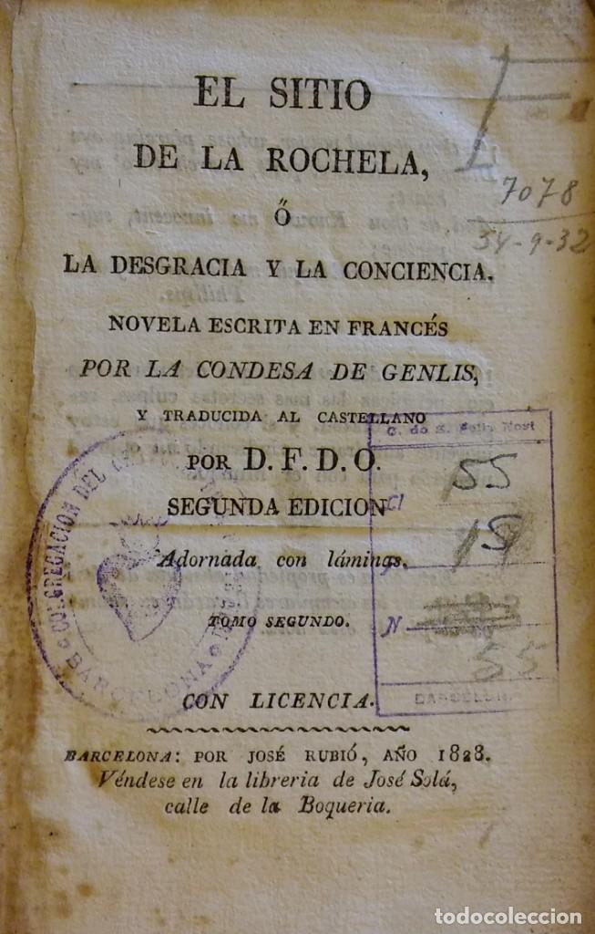 EL SITIO DE LA ROCHELA. BARCELONA, 1828. TOMO 2 (Libros antiguos (hasta 1936), raros y curiosos - Literatura - Narrativa - Otros)