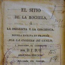 Libros antiguos: EL SITIO DE LA ROCHELA. BARCELONA, 1828. TOMO 2. Lote 211510384