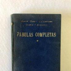 Libros antiguos: TOMO I. FÁBULAS COMPLETAS. IRIARTE Y SAMANIEGO. ESOPO. FEDRO. LA FONTAINE. EL. Lote 211559569