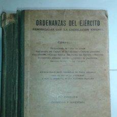 Libros antiguos: ORDENANZAS DEL EJÉRCITO ARMONIZADAS CON LA LEGISLACIÓN VIGENTE 1936 11ª ED. CASA EDITORIAL HERNANDO. Lote 211575391