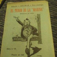 Libros antiguos: EL TENOR DE LA MARINA. BARCELONA, 1907. Lote 211619279