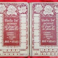 Libros antiguos: DEUDA DEL CORAZÓN~ANGEL DE LA GUARDA - 1909~1ª ED.- JOSÉ SELGÁS, 2 TOMOS - ED. MONTANER Y SIMÓN PJRB. Lote 211627277