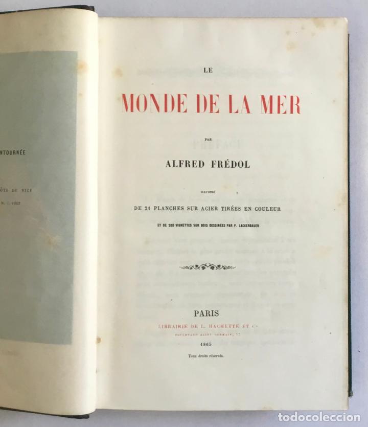 LE MONDE DE LA MER. - FRÉDOL, ALFRED. 1865. GRABADOS (Libros Antiguos, Raros y Curiosos - Ciencias, Manuales y Oficios - Otros)