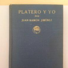 Libros antiguos: PLATERO Y YO, 1932. EDICIÓN DE LA RESIDENCIA DE ESTUDIANTES. Lote 211727061