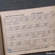 Libros antiguos: MÉTODO DE CALIGRAFÍA. ÁNGEL VIDAL HERNÁNDEZ. IMPRESO EN ZARAGOZA.. Lote 211967403