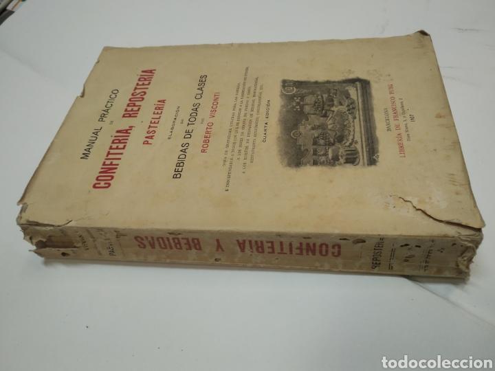 Libros antiguos: Visconti, Roberto.Manual práctico de confitería, repostería y pastelería y la preparación de bebida - Foto 4 - 212031867