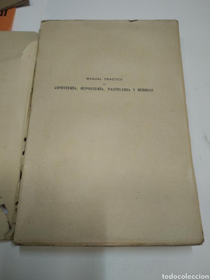 Libros antiguos: Visconti, Roberto.Manual práctico de confitería, repostería y pastelería y la preparación de bebida - Foto 10 - 212031867