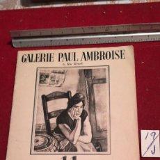 Libros antiguos: CATÁLOGO GALERIE PAUL AMBROISE PEINTRES CATALÁNS. Lote 212032352